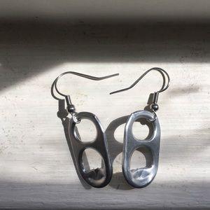 Minimalist Handmade Can Tab Earrings
